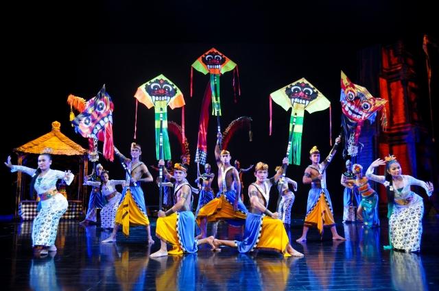 Bali - Kites festival. Devdan Show at Bali Nusa Dua Theatre.