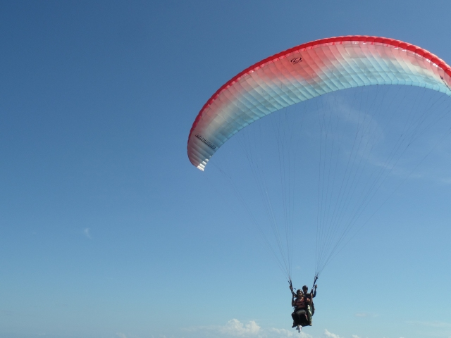 Paragliding Flight in Nusa Dua, Bali.