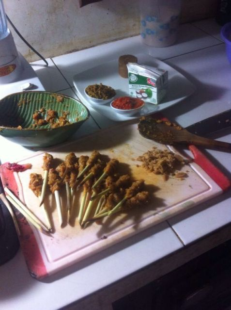 Sate lilit ayam, Bali. Top 10 best Indonesian food.