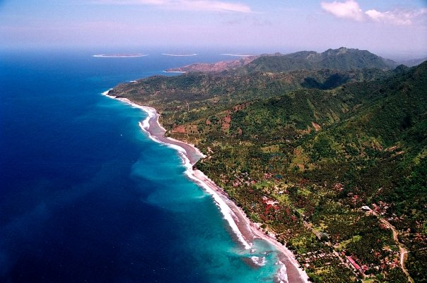 View of Lombok from the Sky. 12 reasons to visit Lombok.