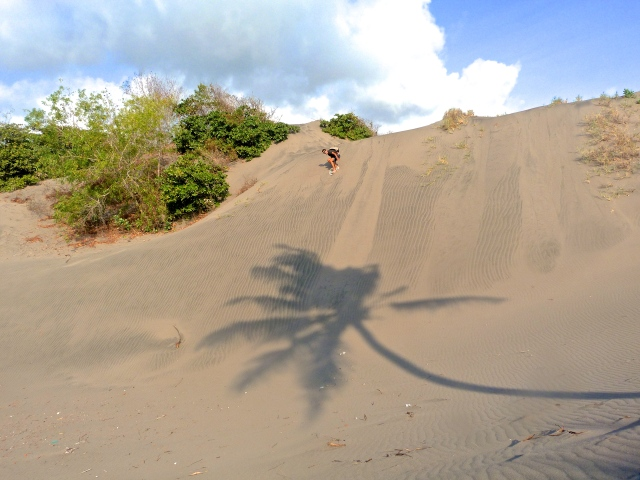 Parangritis beach - Yogyakarta. Sand dunes of Gumuk Pasir